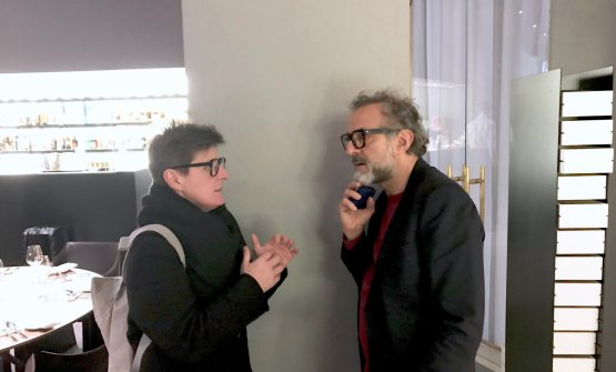Chiacchiere traViviana Varese e Massimo Bottura