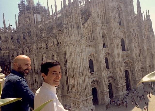 Niko Romito e l'executive chefGaia Giordano sull