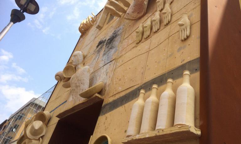 L'ingresso del Refettorio Ambrosiano, accanto alla parrocchia diSan Martino in Greco