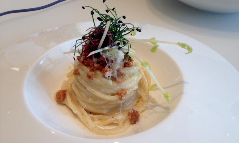 Lo Spaghetto cacio, pepe e ricci di mare di Roberto Conti