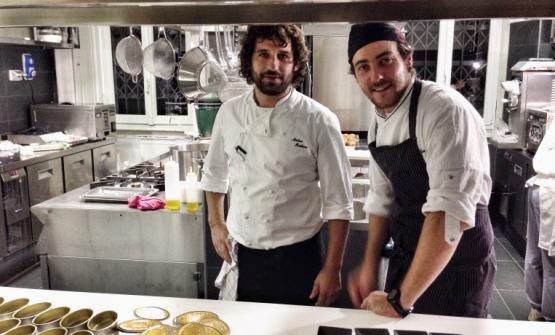 Matias Perdomo and Simon Press in the kitchen of Contraste