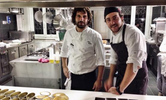 Matias Perdomo e Simon Press nella cucina di Contraste