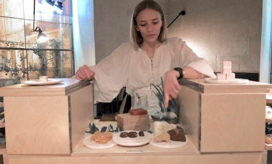 Isabella Potì al termine della cena, con il carre