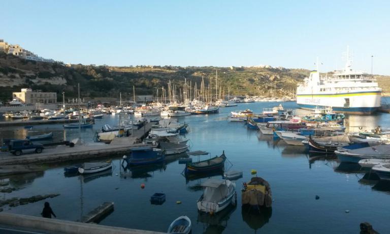 Il porticciolo di Gozo, splendida isola 4 km a nord-ovest di Malta, 30mila abitanti