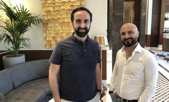 Vito Mollica e Piero Giglio nella lounge del Waldo