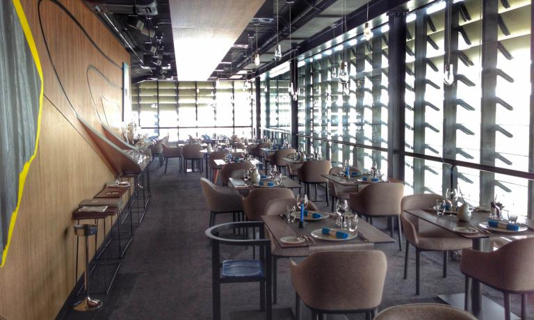 La sala del ristorante Symphonie