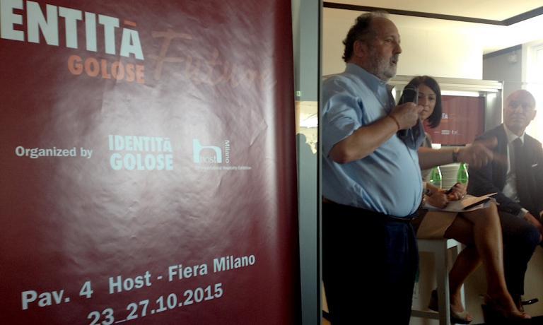Paolo Marchi illustra Identità Golose Future (al padiglione 4): il format prevederà 3 appuntamenti al giorno, con 2 interpreti (un esperto e un cuoco), cooking-show e assaggi alla scoperta di macchinari e tecniche