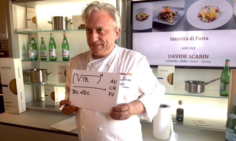 Davide Scabin, chef del Combal.zero di Rivoli, e l