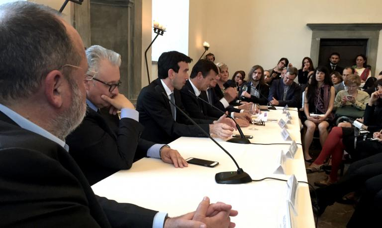 The press conference presenting Ea(s)t Lombardy