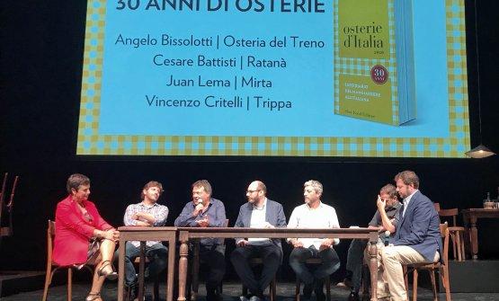 Durante la presentazione sono stati invitati sul palco quattro osti milanesi: Angelo Bissolotti (Osteria del Treno), Cesare Battisti (Ratanà), Vincenzo Critelli (Trippa), Juan Lema (Mirta)