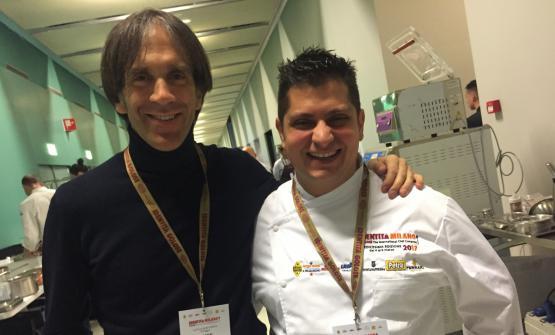 Davide Oldani con Alessandro Procopio nel backstage di Identità