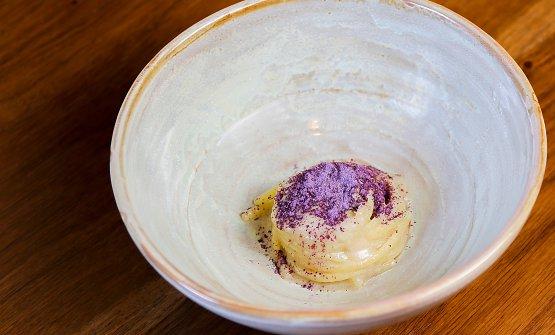 Spaghetto al brodetto bianco di razza e cavolo viola. Le foto dei piatti sonodi Giovanni Mastropasqua