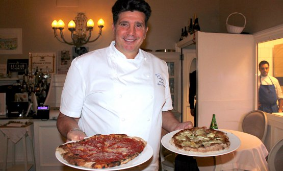 Stefano Chinappi and his pizzas