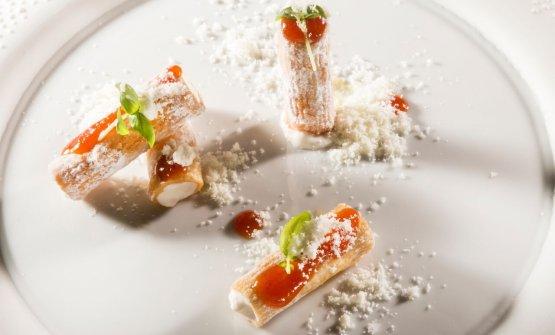 Il dessert non-dessert: Rigatoni pomodoro e mozzarella(foto Brambilla/Serrani)