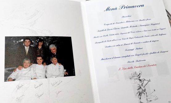 Il menu Primavera a Dal Pescatore, tre stelle a Ca