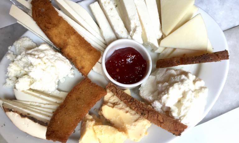 Cheese tasting at Karamanlidika