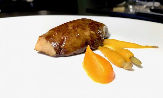 Foie gras, carrots and makil goxo
