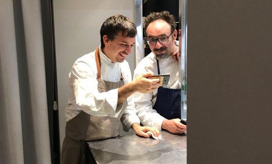 Gianluca Gorini e Paolo Lopriore, in un momento di