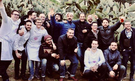 Alcuni dei protagonisti di Pig Calabria, evento tutto dedicato al maiale calabrese, che ha avuto luogo domenica 14 scorsa nella dimora storica di Villa Rossi a Santa Cristina d'Aspromonte, Reggio Calabria(foto di Marco Varoli)