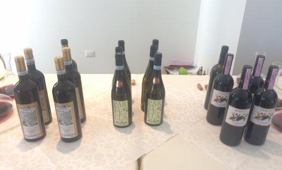 I tre vini in degustazione