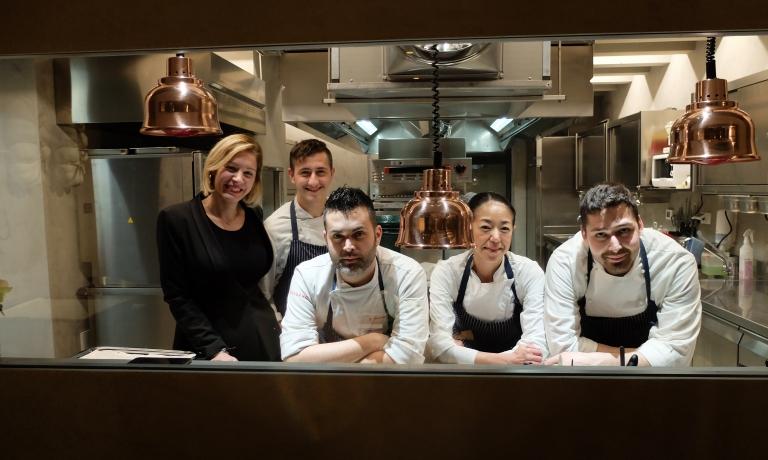 Lo staff del ristorante Impronta di Bassano del Grappa (Vicenza)