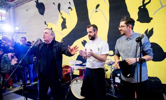 Con Don Ciotti all'inaugurazione di Berberè Torino, febbraio 2016