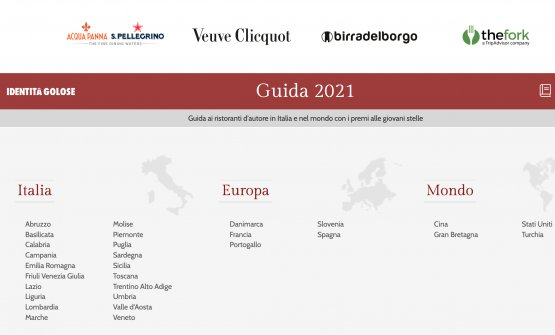 The homepage of the Guida ai Ristoranti di Identi