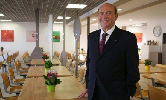 Ernesto Pellegrini nel ristorante solidale Ruben,