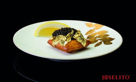 Belon oyster, purée of Joselito pork fillet and oscietra caviar, the perfect creation and interpretation given byYannick Allénoto Joselito