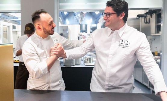 Medina con il resident chef di Identità Golose Milano, Alessandro Rinaldi