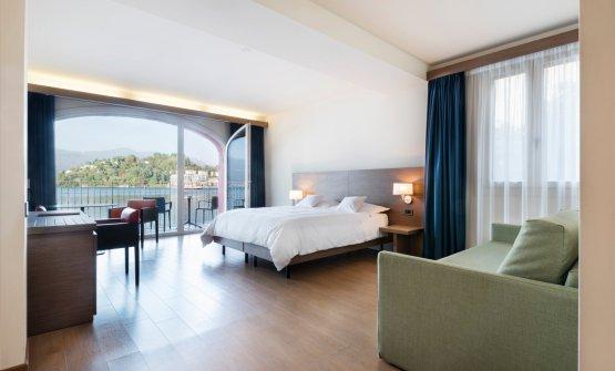 Una delle stanze dell'hotel