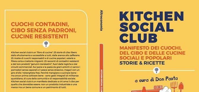 """Un dettaglio della copertina di """"Kitchen Social Club"""", edito da Altreconomia (128 pagg., €12.50)"""