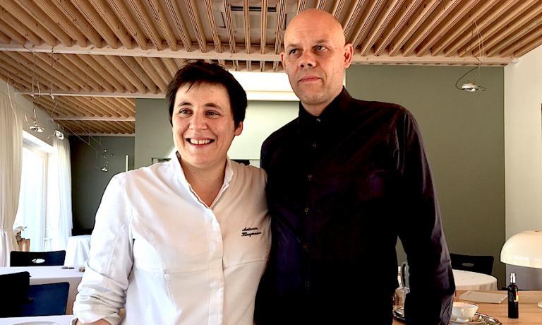 Antonia Klugmann e Romano De Feo, le due menti e i due volti dell'Argine, ristorante straordinario per attualità, serenità e pensieri in cucina, sala e cantina