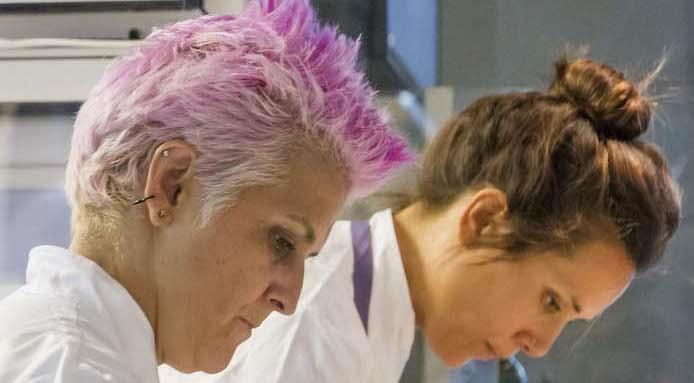 Da sinistra, Cristina Bowerman e Alice Delcourt