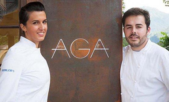 Oliver Piras e Alessandra Del Favero, dell'AGA