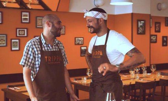 Pietro Caroli e Diego Rossi al Trippa di Milano
