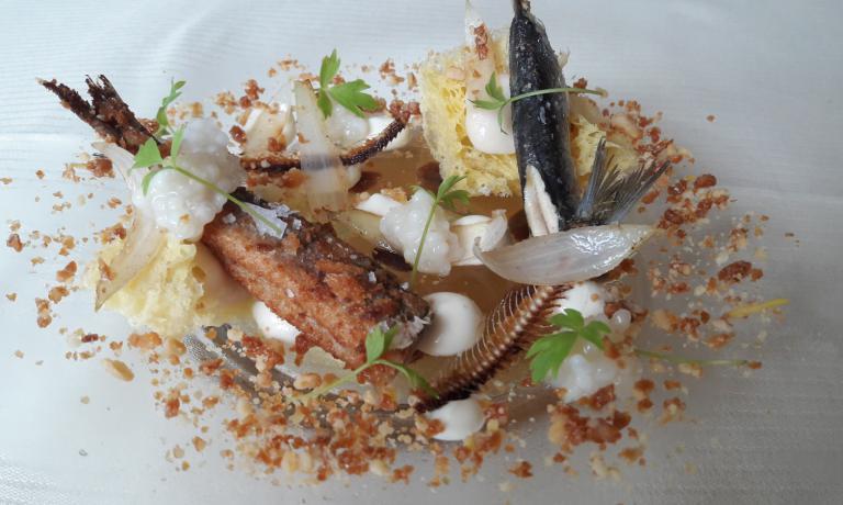 Il piatto di Volpin:Sarde in Saor...Baffo d'Oro!!!