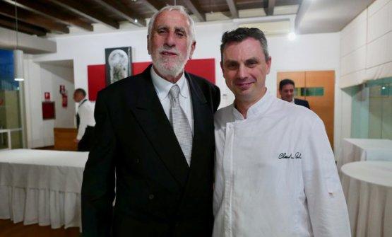 A destra, Claudio Ruta del ristorante La Fenice di