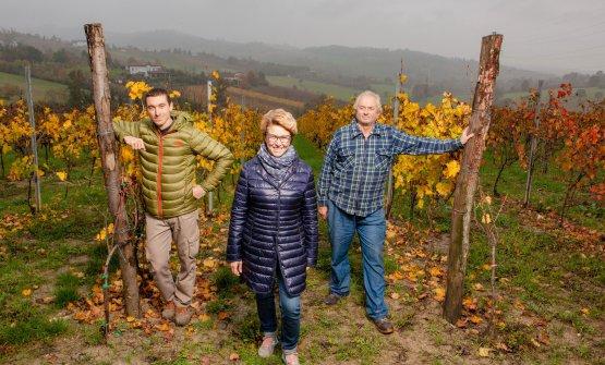 Elisa Semino, al centro, con il fratello Lorenzo e