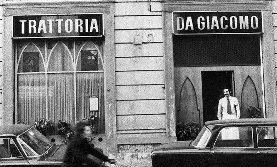 La prima trattoria Da Giacomo, fine anni '50