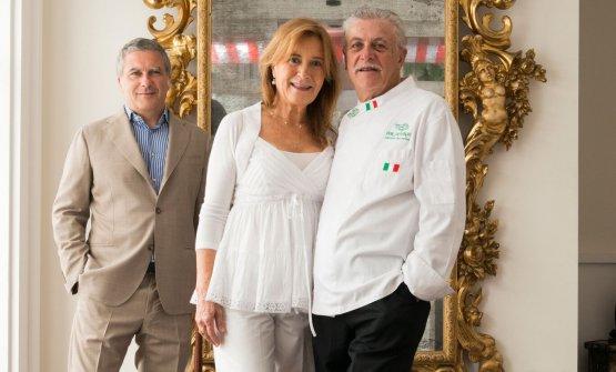 Mario, Livia e Alfonso Iaccarino.Saranno protago