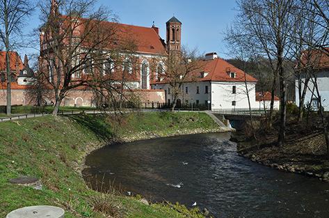 La Vilnia è il fiume che attraversa e dà il nome alla capitale della Lituania