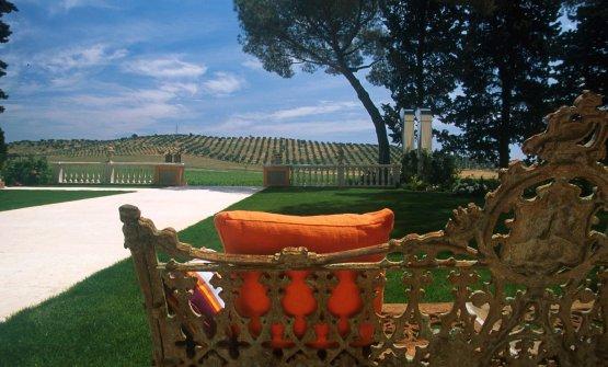 L'Andana: la vista dall'orangerie