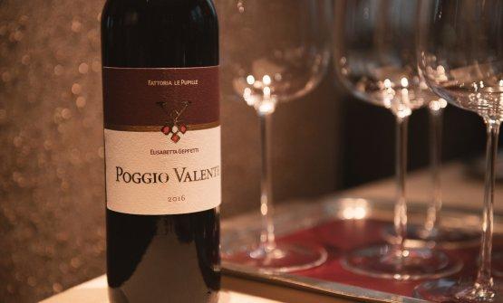 Il Poggio Valente, Morellino di Scansano, vino di punta dell'azienda(fotoGinevra Gentili - Elsworthy)