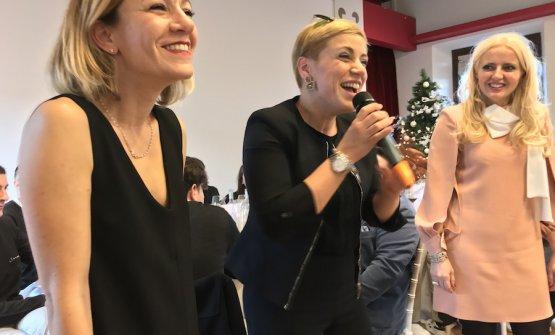 Marta, Enrica e Dominga Cotarella il giorno della presentazione del progetto Intrecci, il 17 dicembre 2018