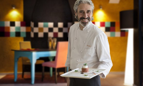 Leandro Luppi, chef della Vecchia Malcesine, proprio a Malcesine (Verona)