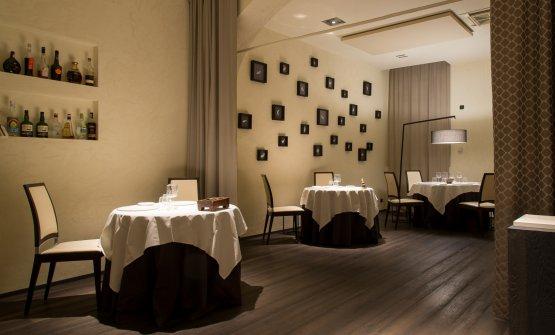 La sala del ristorante L'Erba del Re