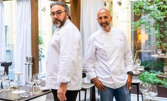 Phiippe Léveillée il responsabile della cucina diIdentità Golose Milano,Andrea Ribaldone