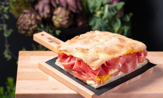 LaPizza doppio crunch®consalame lo Speziale e crema di carote e sedanodiRenato Bosco
