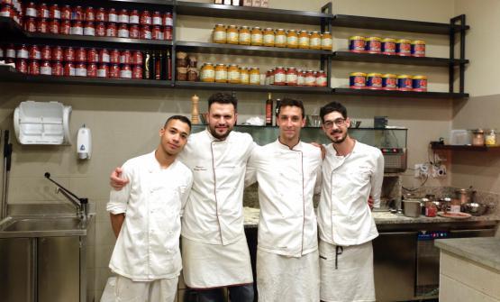 Il team di Lievità in via Sottocorno, a Milano: Juan José Fernandez Acosta (da Malaga), Giorgio Caruso, Mauro De Lucia e Stefano Beretta(le foto sono di Tanio Liotta)